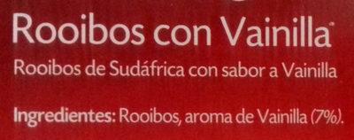 Rooibos con vainilla - Ingredients