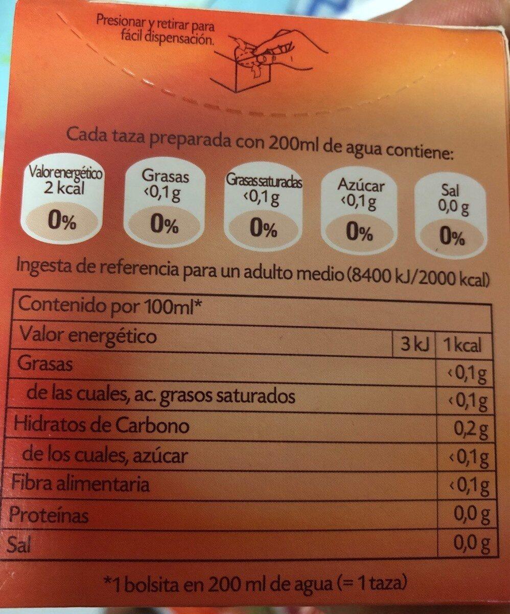 Escaramujo con hibisco - Voedingswaarden - es