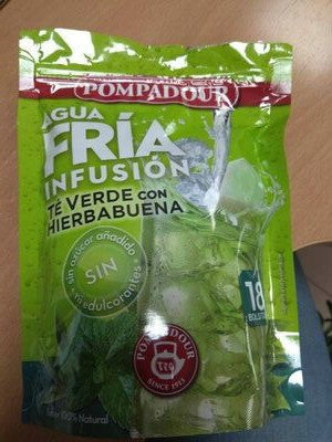 Agua fría infusión - Té verde con hierbabuena