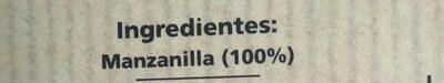 Manzanilla en bolsitas - Voedigswaarden