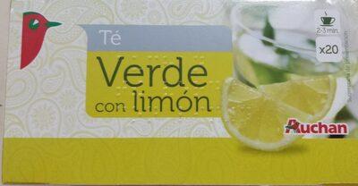 Té verde al limón