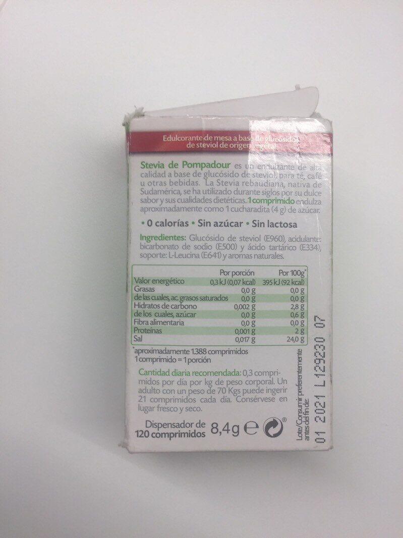 Stevia - Voedingswaarden - es