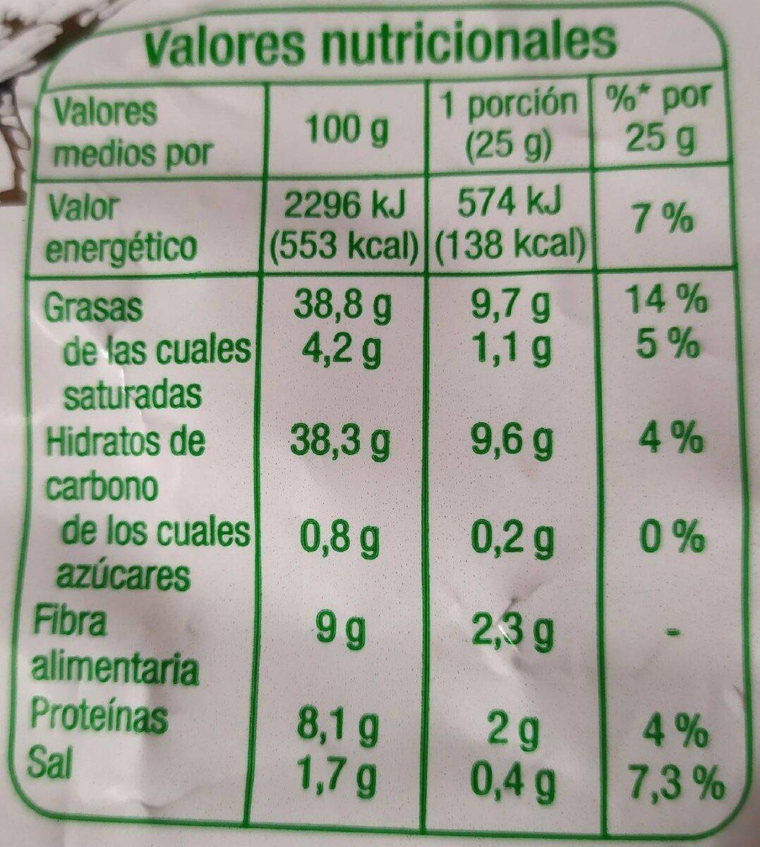 Patatas Fritas sabor Campesinas - Información nutricional