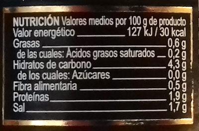Alcaparras Capucines - Información nutricional
