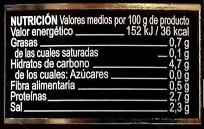 Ajos - Información nutricional - es