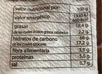 Galletas integrales - Nutrition facts - es