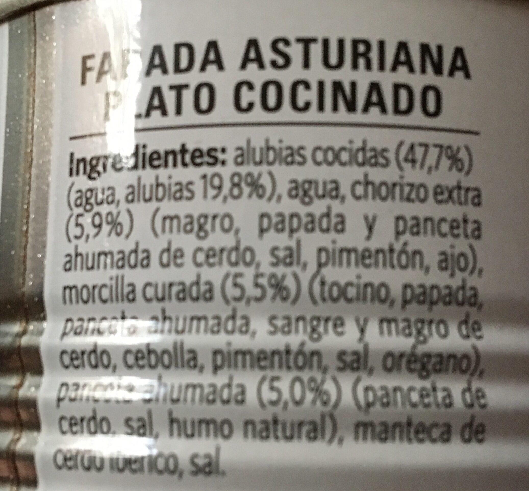 Fabada Asturiana - Ingredientes