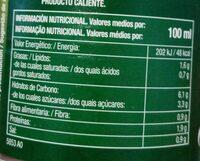 Sopa oriental shangai - Nutrition facts - es