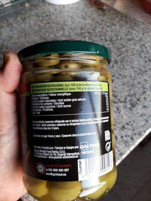 Aceitunas verdes sin hueso - Nutrition facts - es
