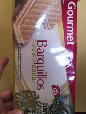 Barquillos sabor a coco - Producte