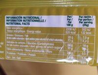 Barquillos sabor a coco - Informació nutricional