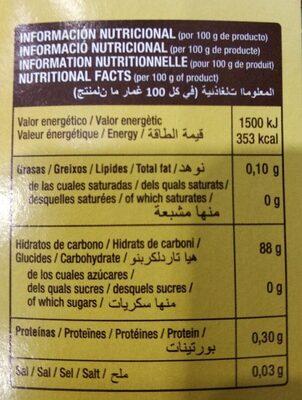 Harina Fina De Maiz Gourmet 350G - Nutrition facts