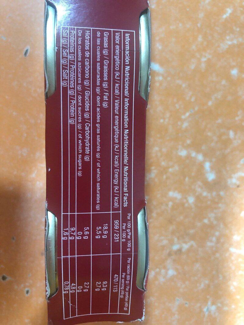 Moules à l'escabèche - Información nutricional