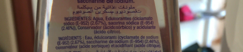 Edulcorante Gourmet Liquido 140mL - Ingrédients - fr