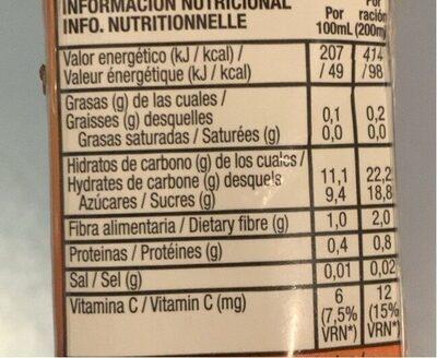 Zumo de melocotón , manzana y uva - Informations nutritionnelles - fr
