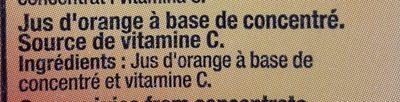 Zumo Gourmet Naranja 100% Brick - Ingredientes - fr