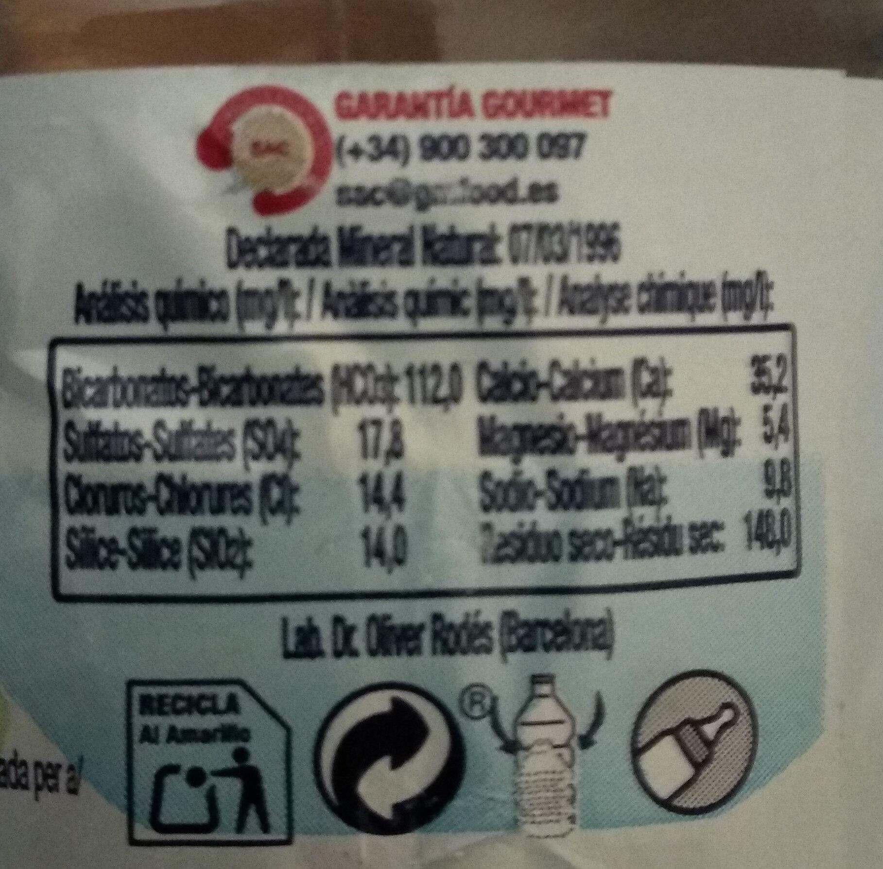 Estrella 1 - Nutrition facts - fr