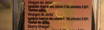 Vinagre de Jerez - Ingredientes - fr