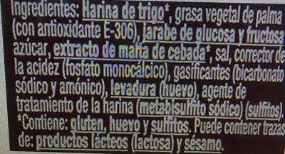Galleta Gourmet Salada Redonda - Ingredientes
