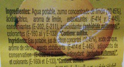 Agrio Limon Gourmet 500 ML. - Ingredientes