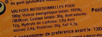 Salchichón paysan extra - Informations nutritionnelles - fr