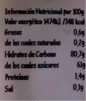 Mix Frutas del Bosque - Información nutricional - es