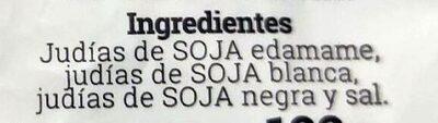 EDAMAME SOJA BLANCA Y SOJA NEGRA - Ingredients - es