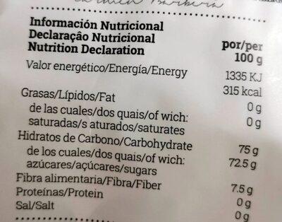 Arándano rojo deshidratado - Voedingswaarden - es