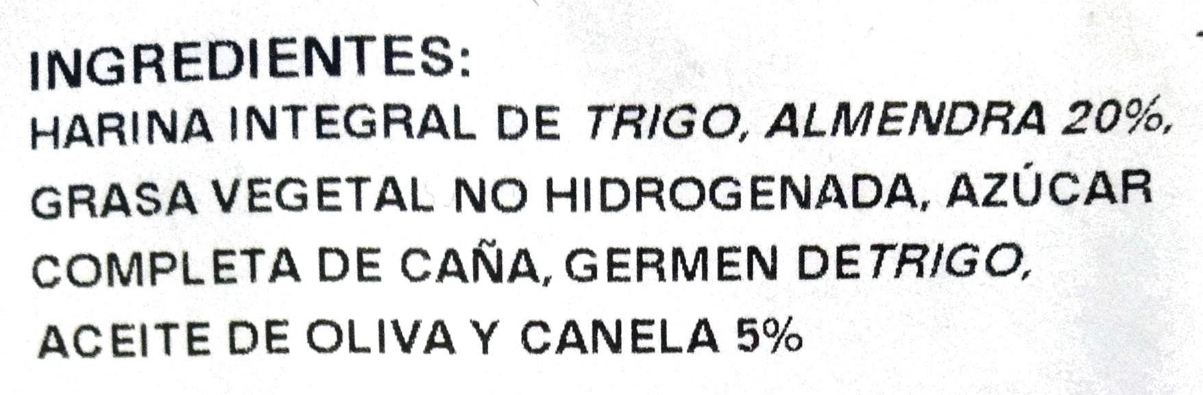 Polvorones - Ingredients - es