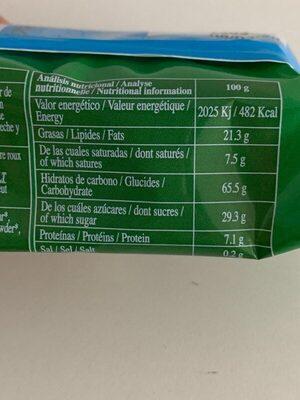 Galletas chocolate avellanas - Información nutricional - fr