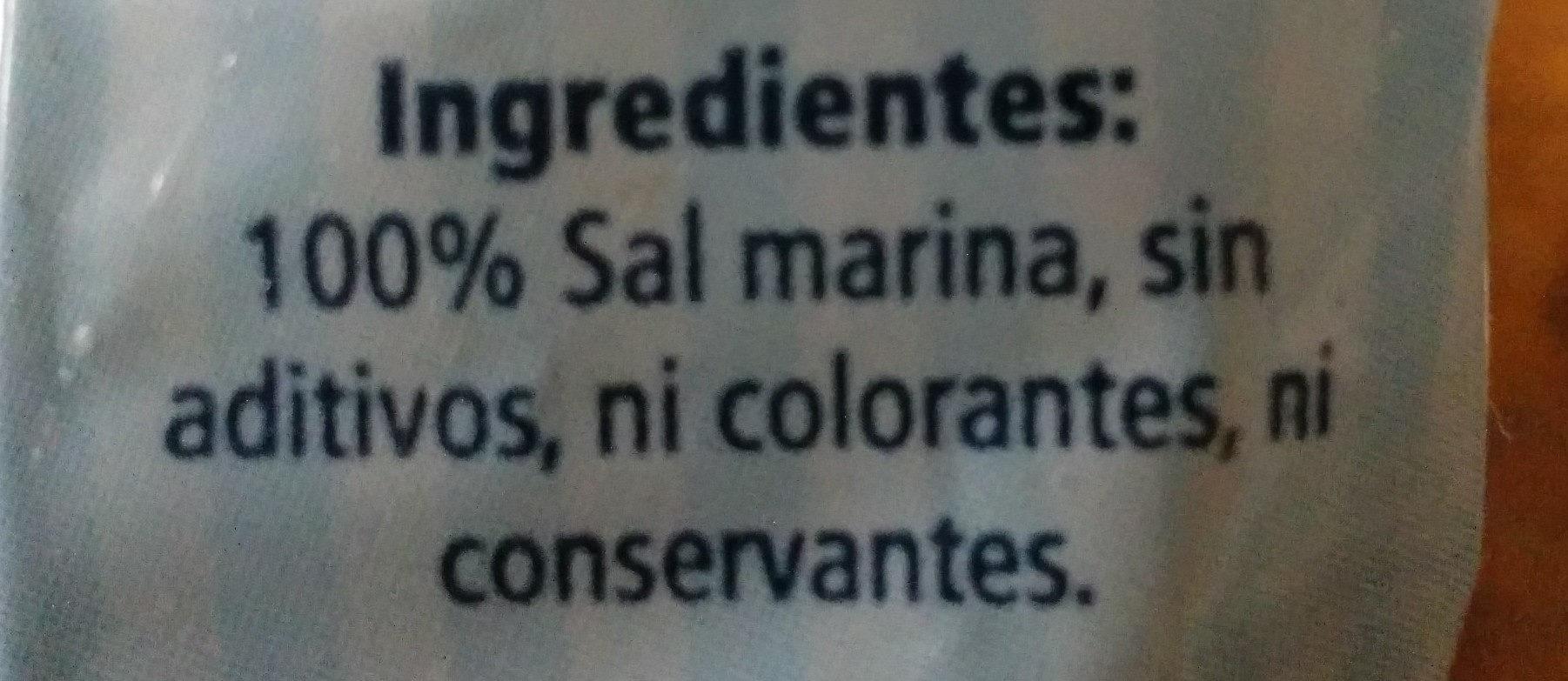 Sal marina fina - Ingredients