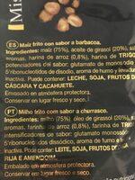 Maíz Tostado Mistercorn Bolsa - Ingrédients - fr