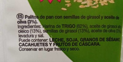 Palitos de cereales - Ingredientes - es