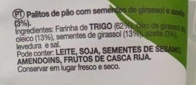 Palitos de cereales - Ingrédients