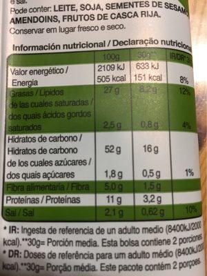 Palitos de cereales - Informations nutritionnelles