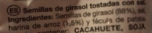 Pipas con sal - Ingredients - es