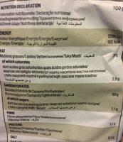 Snatt's ail et persil - Informations nutritionnelles