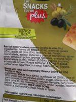 Snacks mediterráneos con olivas y romero - Ingredients - fr