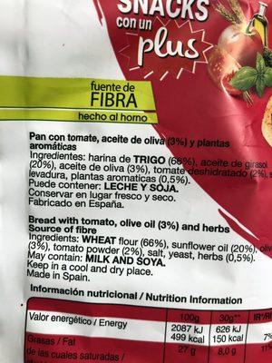 Snatt's Mediterraneas Tomate - Producto