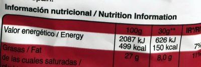 Snatt's Mediterraneas Tomate - Información nutricional