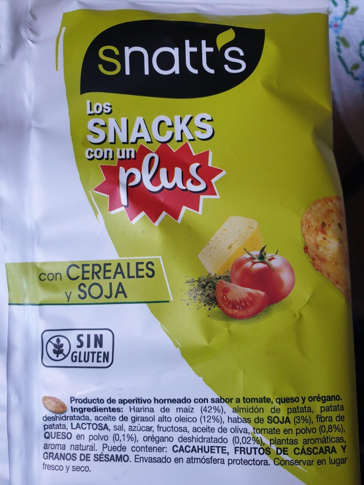 Snatt's natuchips tomate, queso y orégano a base - Ingredientes