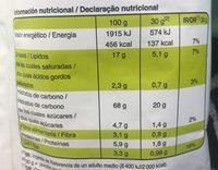 Snatt's - NatuChips - Información nutricional - es