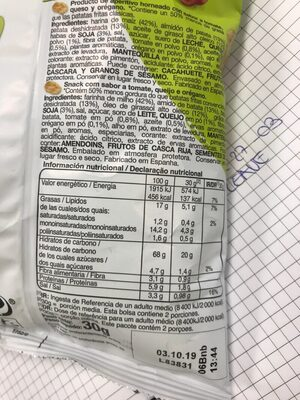 Snatt's - NatuChips - Nutrition facts