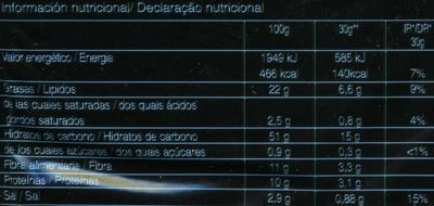 Mister Corn palomitas al punto de sal bolsa 90 g - Información nutricional