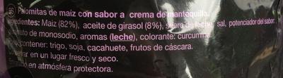Las Súper Palomitas Chicago Cream - Ingredientes - fr