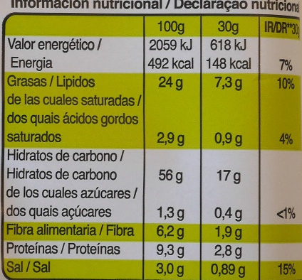 Palitos de cereales con olivas y sésamo - Snatt's - Nutrition facts