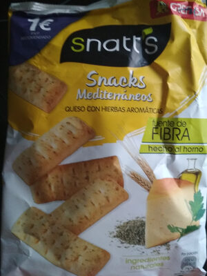 Snatt's mediterráneas queso - Producto - es