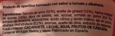 Quinoa snacks tomate y albahaca - Ingredientes