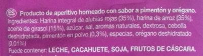 Alubia Snacks Pimentón y Orégano - Ingredientes