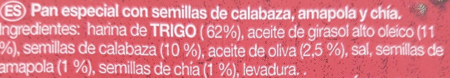 Snacks méditerranée semillas - Ingrediënten